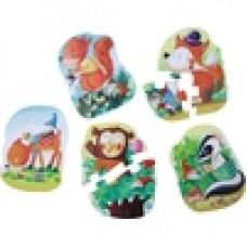 Набор из 5 пазлов для малышей 5 erste Puzzles - Wichtelwaldfest